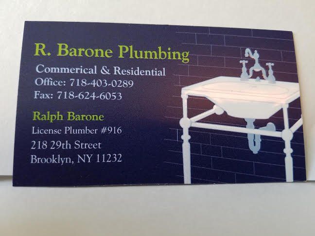 R. Barone Plumbing Phone Number